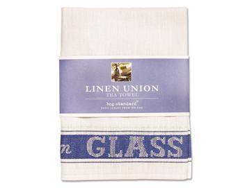 Linen Union Tea Towel - Blue