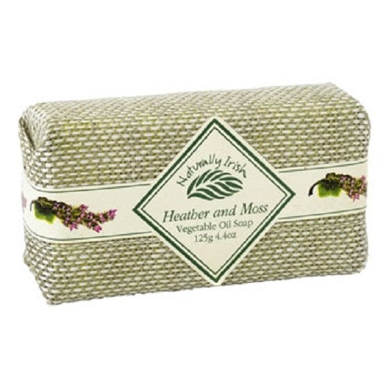 Naturally Irish Heather & Moss 125g/4.4 oz Vegetable Oil Soap
