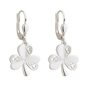 Celtic Shamrock Drop Earrings