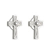 Small Celtic Cross Stud Earrings