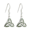 Connemara Marble Trinity Knot Drop Earrings