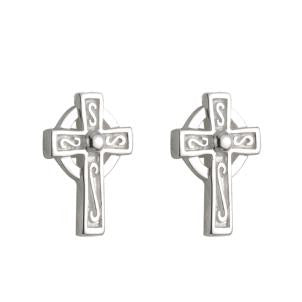 Child's Celtic Cross Stud Earrings