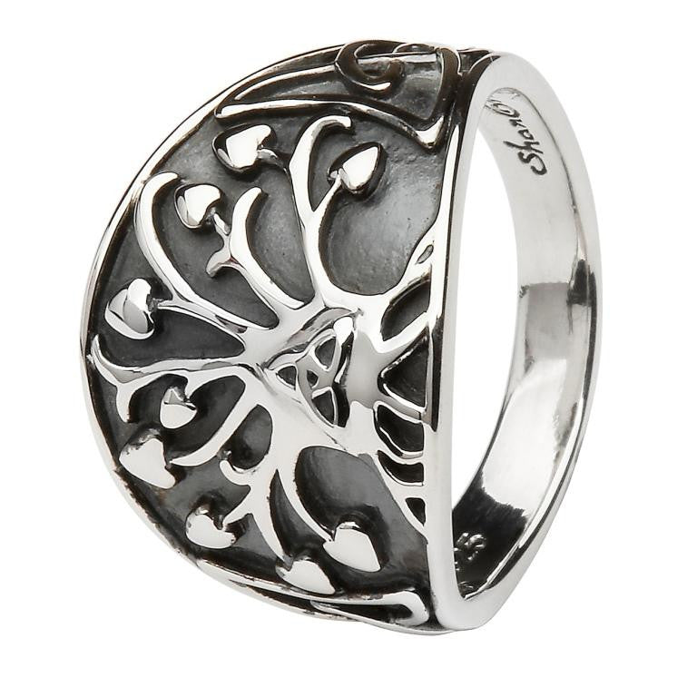 Tree of Life + Trinity Knot Ring by Shanore