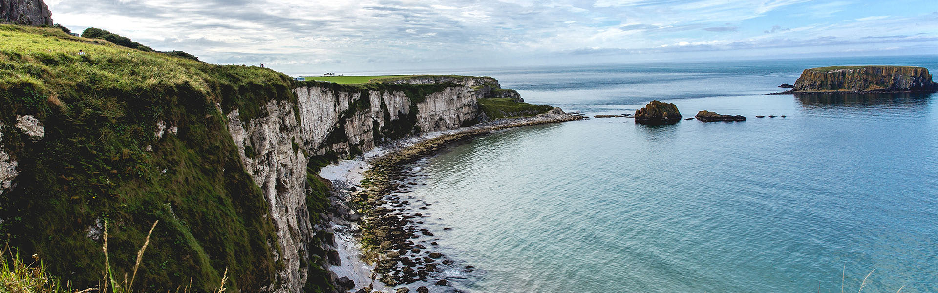 Irish Sea cliffs and Real Irish Travel Text