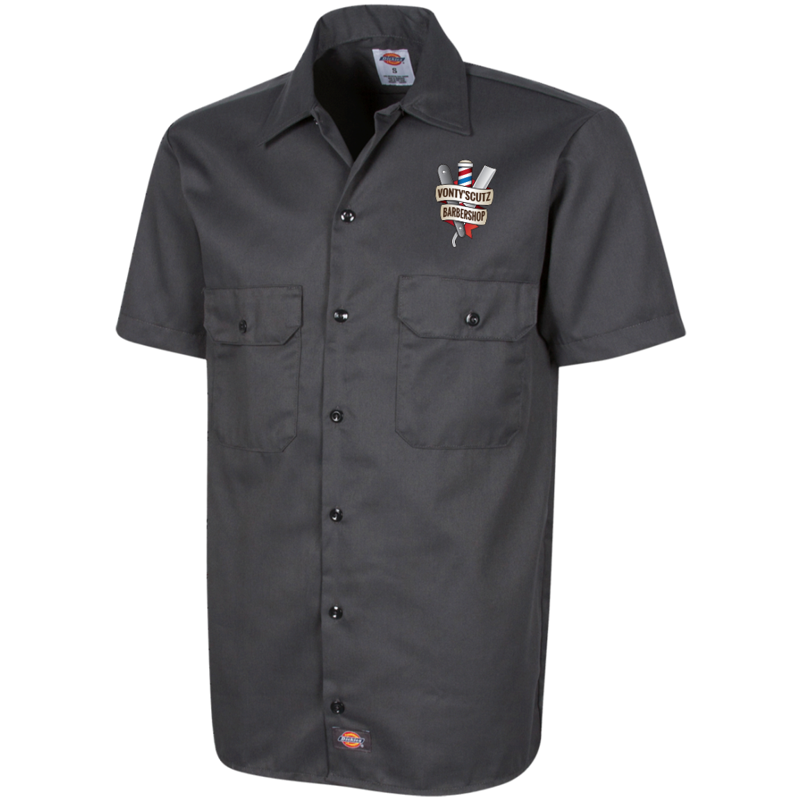Vonty's Barbershop Dickies Men's Short Sleeve Workshirt