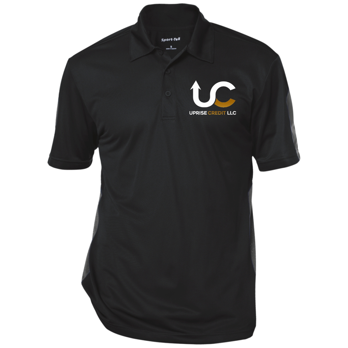 Uprise Credit Performance Textured Three-Button Polo