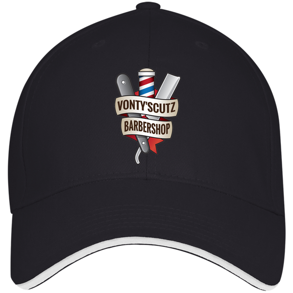 Vonty's Barbershop Bayside USA Made Structured Twill Cap With Sandwich Visor
