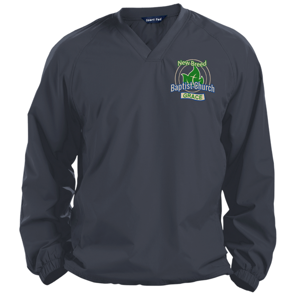 New Breed Baptist Grace Pullover V-Neck Windshirt