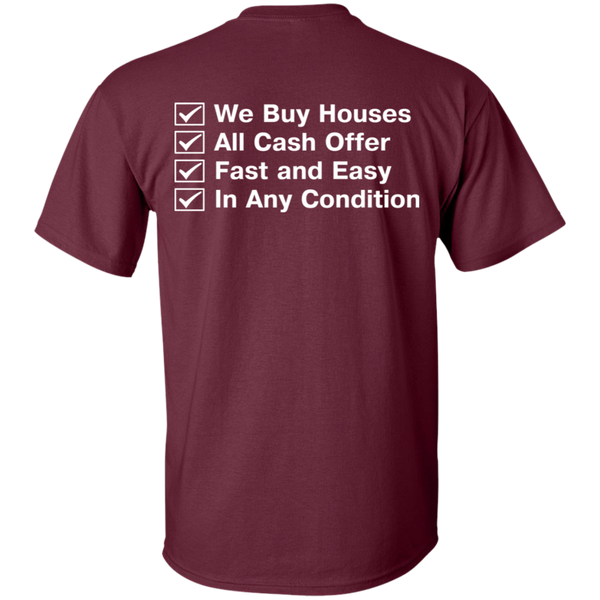 We.Buy.Houses T-Shirt Back/Front