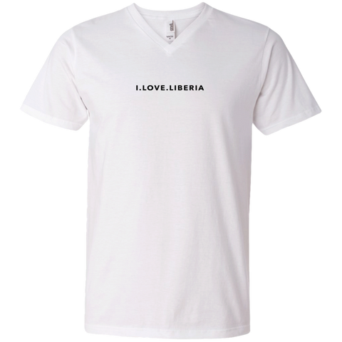 I.LOVE.LIBERIA Men's White V-Neck T-Shirt