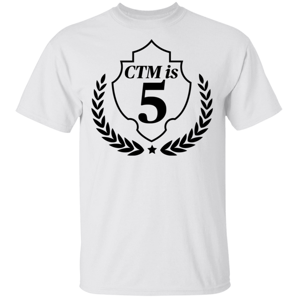 CTM Is 5 T-Shirt White, Blue, Gold