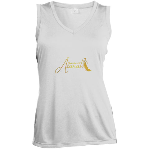 House of Atarah logo House of Atarah Ladies' Sleeveless Moisture Absorbing V-Neck