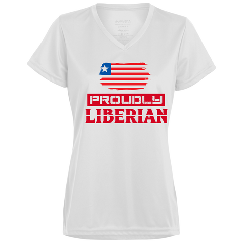 Proudly Liberian Ladies Wicking T-Shirt