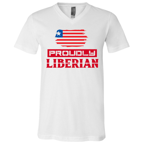 Proudly Liberian Unisex V-Neck (Flag) T-Shirt