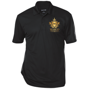 MARCO INTL Performance Textured Three-Button Polo
