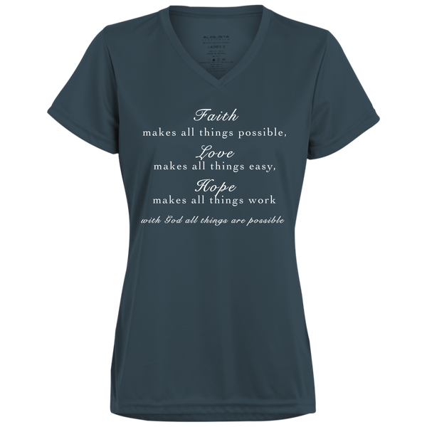 Faith Love Hope Ladies' Wicking T-Shirt