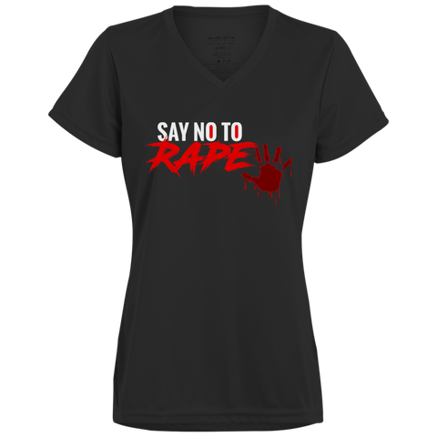 Say No To Rape Ladies' Wicking T-Shirt