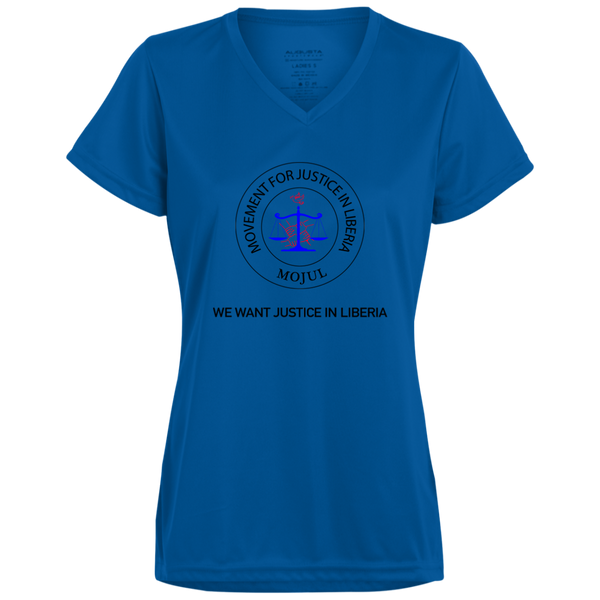 MOJUL/We Want Justice In Liberia Ladies' Wicking T-Shirt