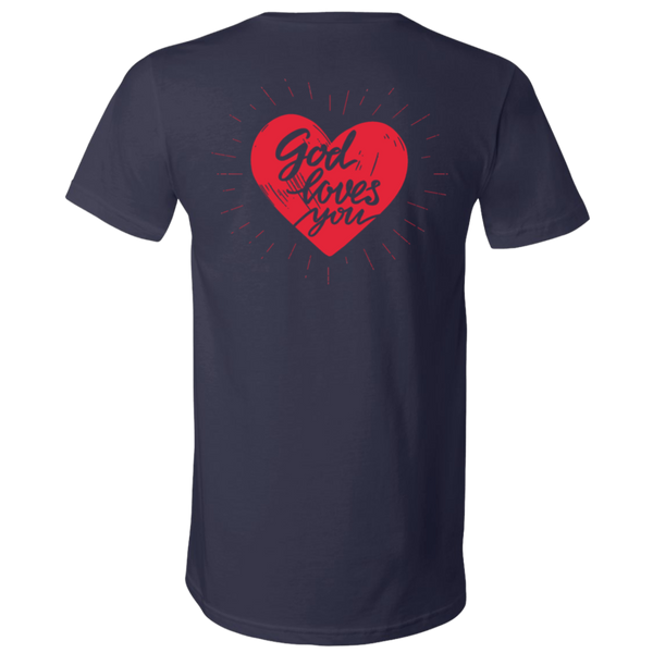 CTM/GOD LOVES YOU Unisex Jersey SS V-Neck T-Shirt