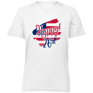 HAPPY 26TH Ladies' Raglan Sleeve Wicking T-Shirt
