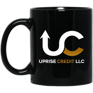 Uprise Credit 11 oz. Black Mug