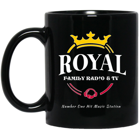 Royal Family 11 oz. Black Mug