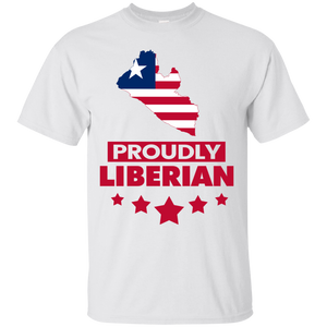 Proudly Liberian T-Shirt (Map)