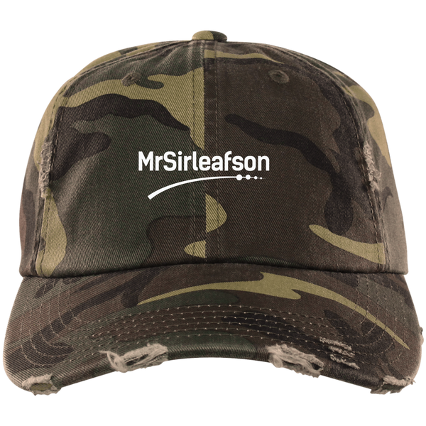 MrSirleafson Distressed Dad Cap