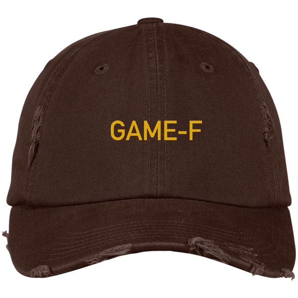 GAME-F District Distressed Dad Cap
