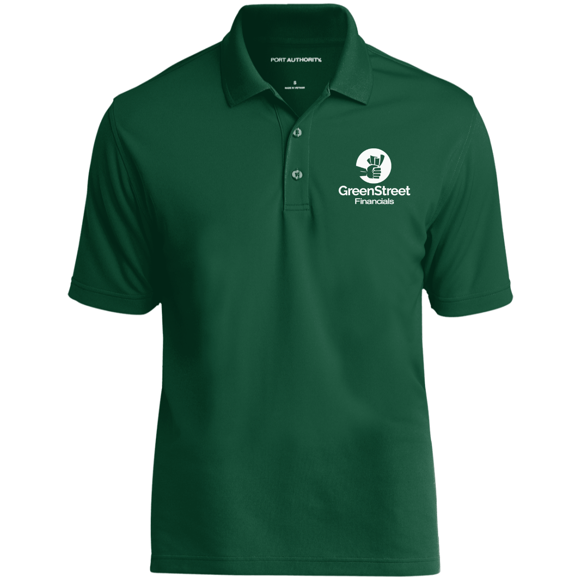 GreenStreet Financials UV Micro-Mesh Polo
