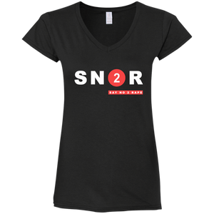 SN2R Ladies' Fitted Softstyle 4.5 oz V-Neck T-Shirt