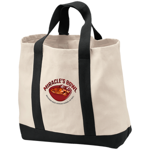 Miracle's Bowl 2-Tone Shopping Tote