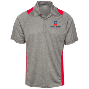 West DFW REI Heather Moisture Wicking Polo