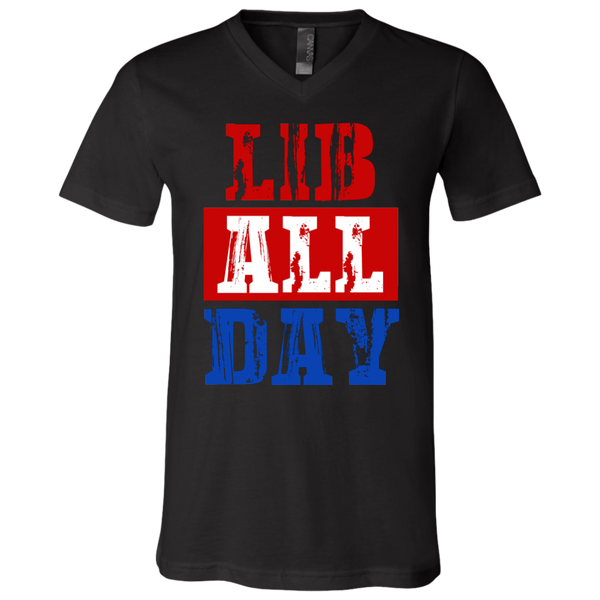 LIB ALL DAY V-Neck T-Shirt