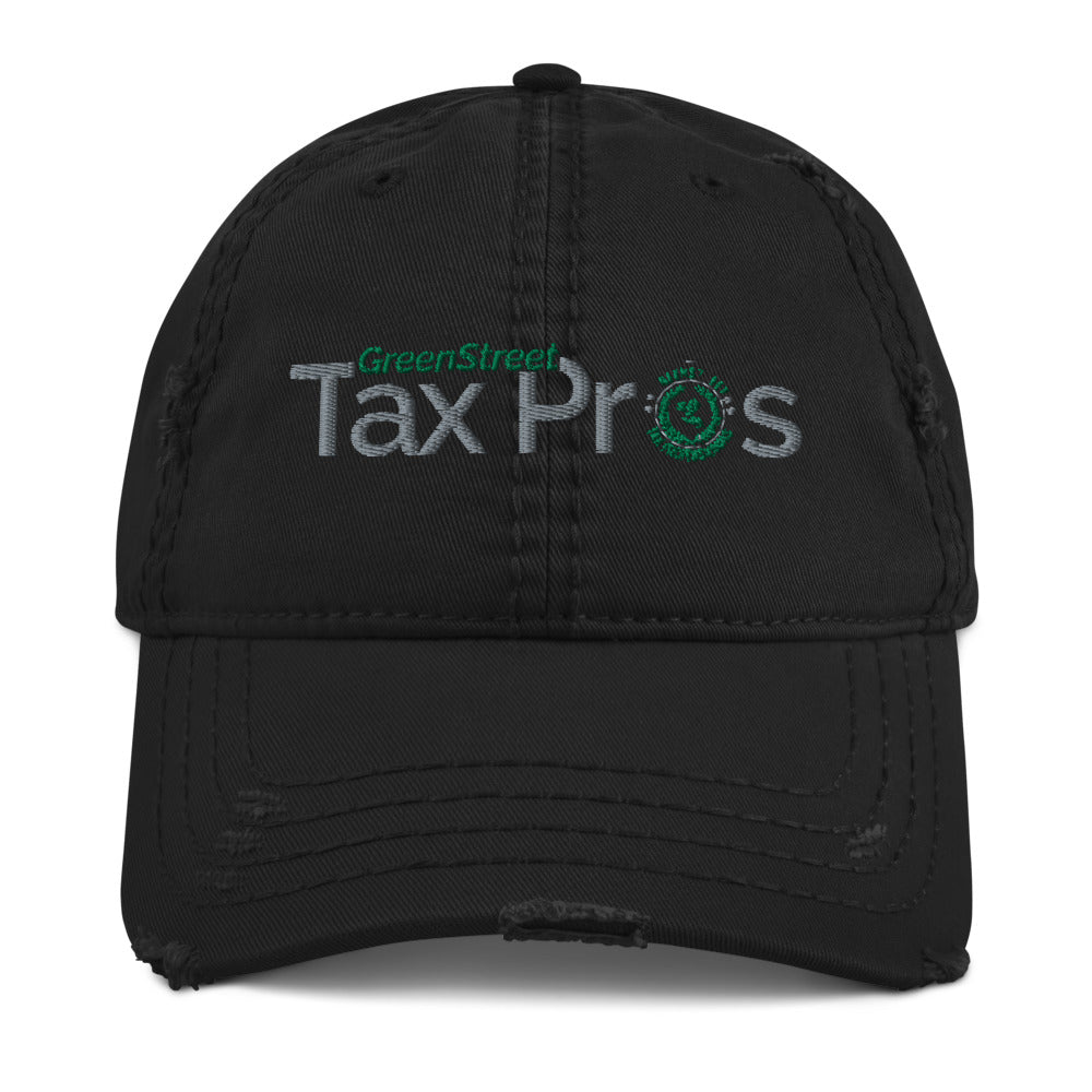 GreenStreet Tax Pros Distressed Dad Hat
