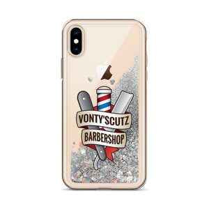 Vonty's Barbershop Liquid Glitter Phone Case