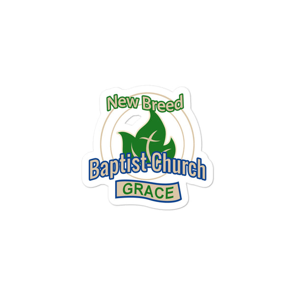 New Breed Baptist Grace Bubble-free stickers