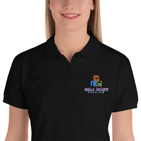 Bella House Keeping Embroidered Women's Polo Shirt