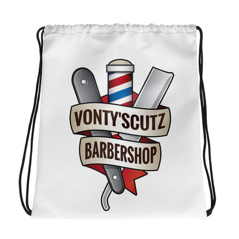 Vonty's Barbershop Drawstring bag
