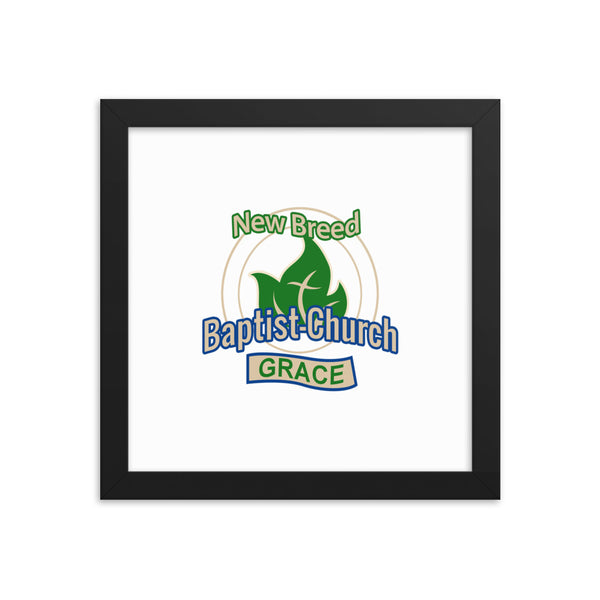New Breed Baptist Grace Framed photo paper poster