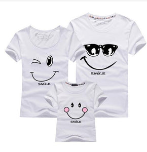 Family Matching Smiling Face T-Shirts
