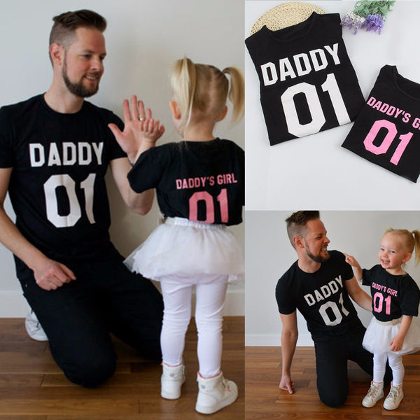 Daddy and Daughter Matching T-Shirts