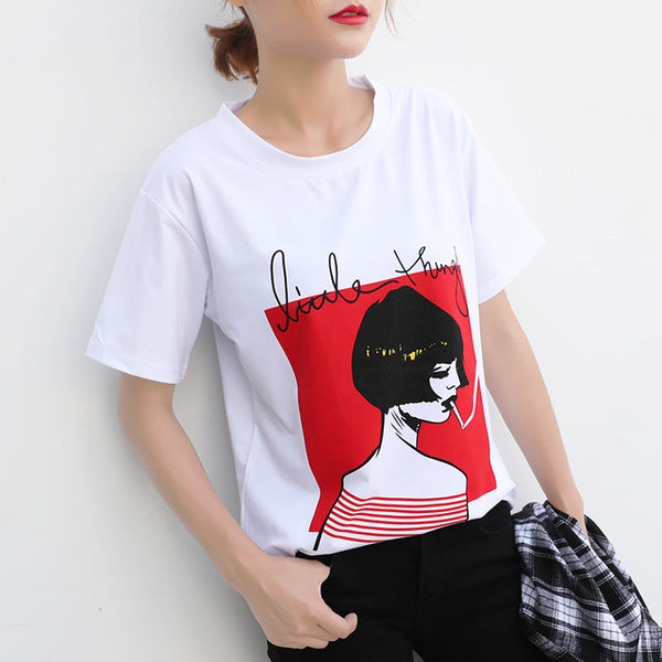 10 Styles Women Casual White T-Shirts