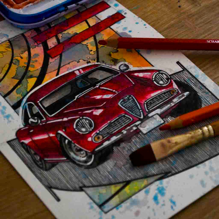 Inspiration from @alfagsv10106 /ALFA ROMEO GSV Handmade Artwork and Coloring Pages (Option Puzzle)