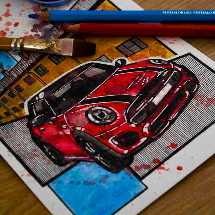 Inspiration from @j99_jpv /MINI F56 Handmade Artwork and Coloring Pages (Option Puzzle)