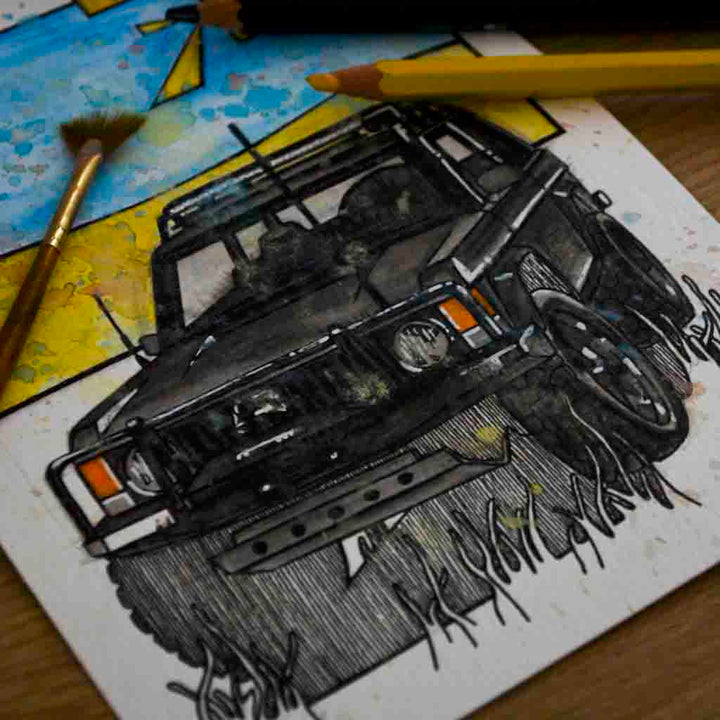 Inspiration from @theaussiedjango /RANGE ROVER Handmade Artwork and Coloring Pages (Option Puzzle)