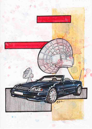 Inspiration from @vergiss_meinnicht and @mbclassic_fan 's R129 / Handmade Artwork and Coloring Pages (Option Puzzle)
