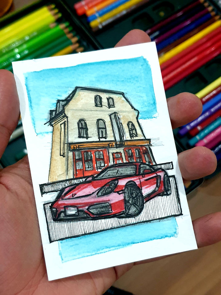 Inspiration from @flat6.gts 's Cayman GTS/ Handmade Sketch