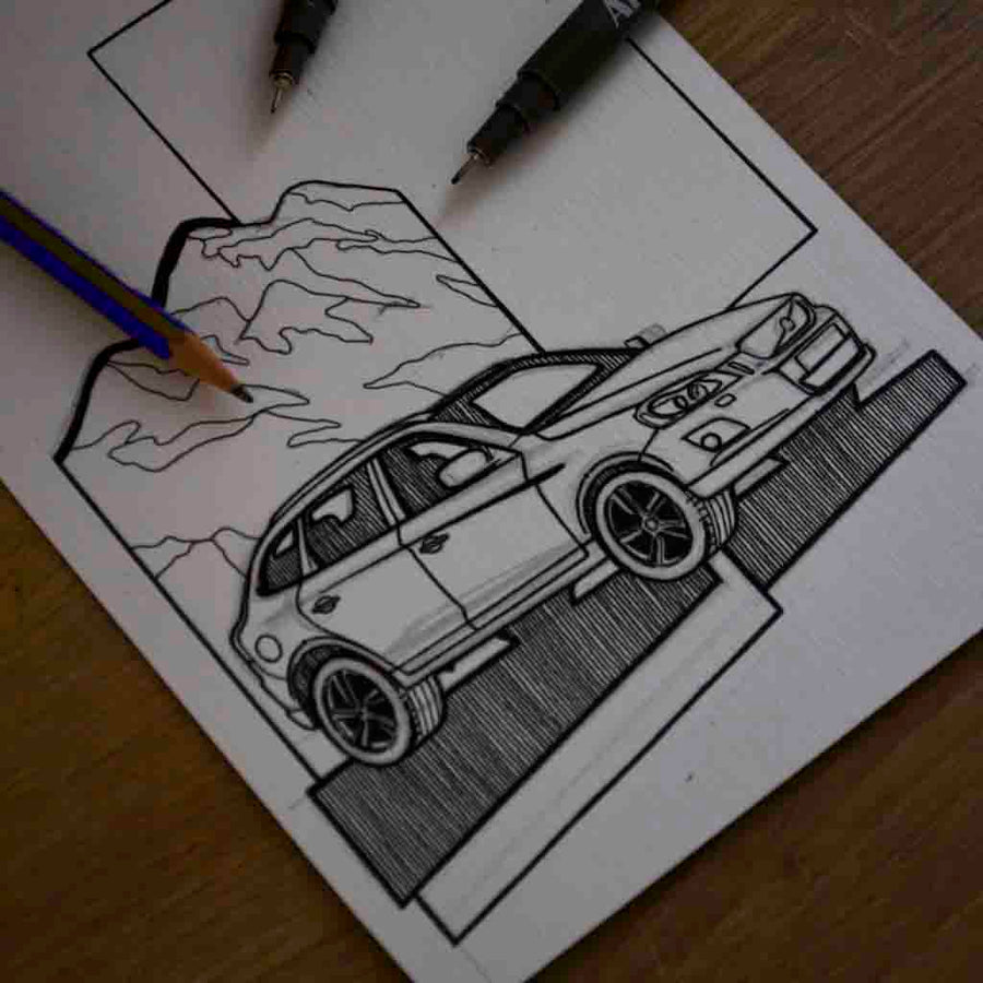 Inspiration from @love_my_volvo_xc60 /VOLVO XC60 Handmade Artwork and Coloring Pages (Option Puzzle)