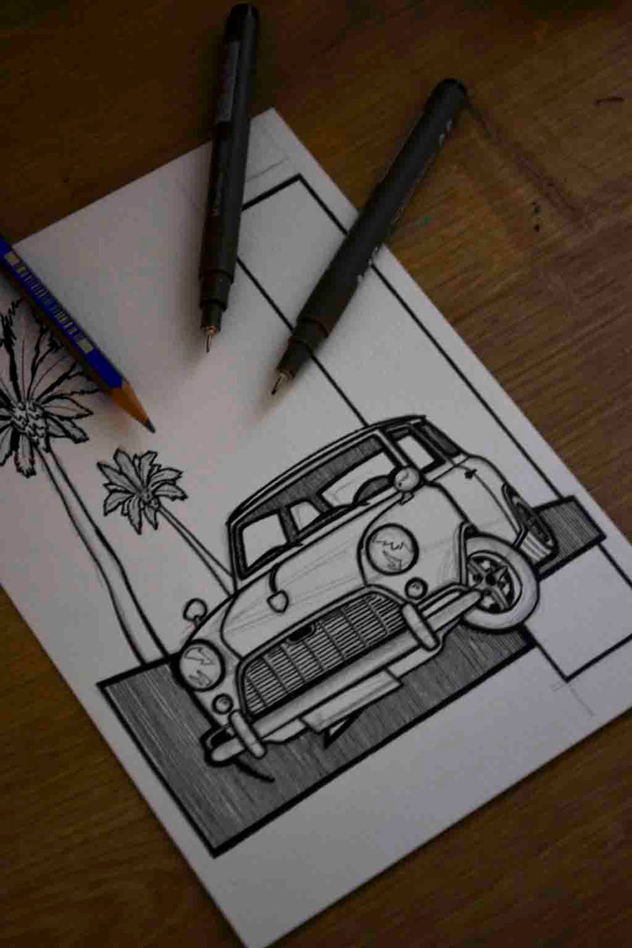Inspiration from @charliegreenmini /MINI Handmade Artwork and Coloring Pages (Option Puzzle)